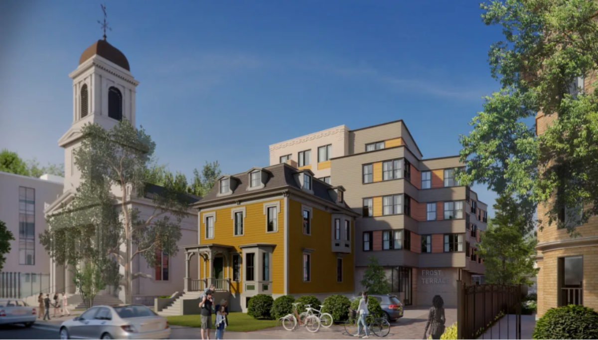 Frost Terrace, a new 40-unit, affordable apartment building in Porter Square