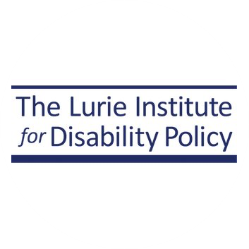 Logo with the text Lurie Institute for Disability Policy
