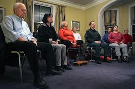meditation class from Boston Globe