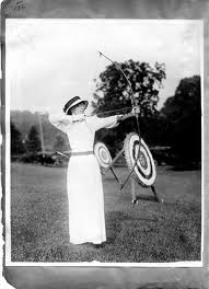 woman shooting arrow