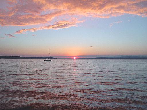 Sunset on Charlevoix