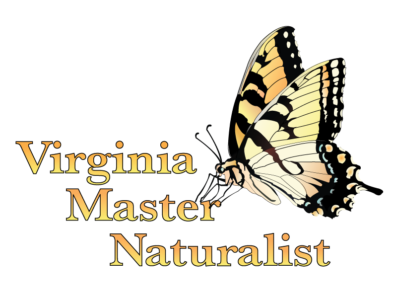 VMN program logo with tiger swallowtail butterfly perched on Virginia Master Naturalist text