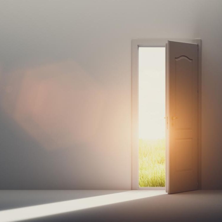 Door open to sunshine