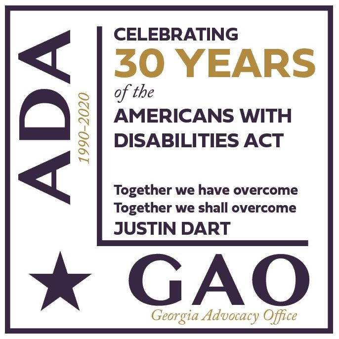 Logo for Celebrating 30 Years of the Americans with Disabilities Act ADA / GAO