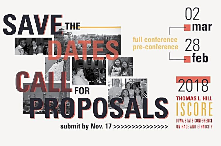 Iowa State Conference on Race and Ethnicity 2018 Call for Proposals