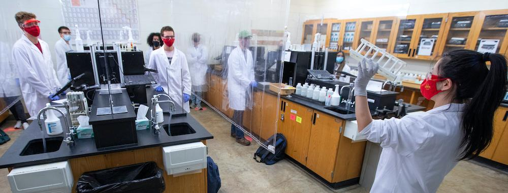 A lab at Iowa State during fall 2020 photo by Chris Gannon