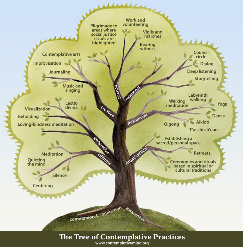 The Tree illustrates some of the contemplative practices currently in use in secular organizational and academic settings