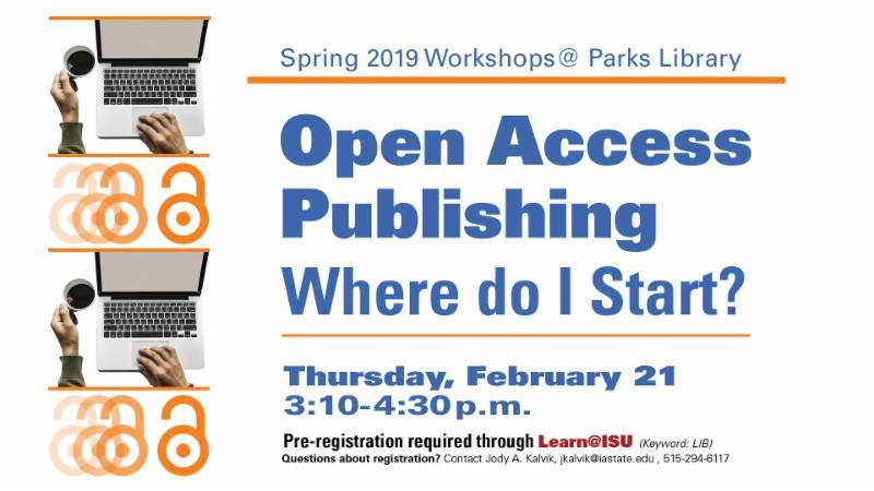 Open Access Publishing Workshop on Feb 21