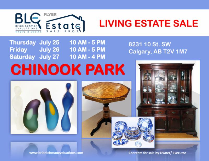 Living Estate Sale Chinook Park July 25 - 27