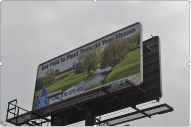 Berks County CREP Billboard