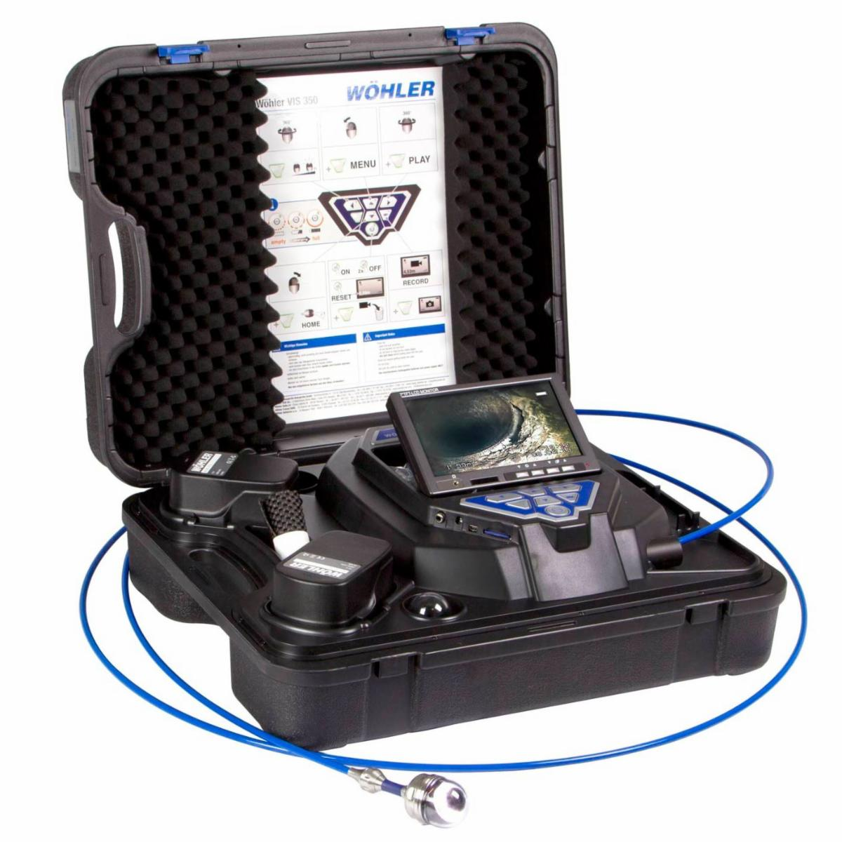 """WOHLER VIS 350 INSPECTION CAMERA WITH 1.5"""" CAMERA HEAD"""
