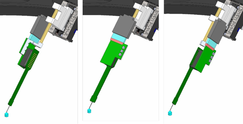 IMAGE - SLIM DESIGN PROBES ROTATE FOR CLOSE SPACING