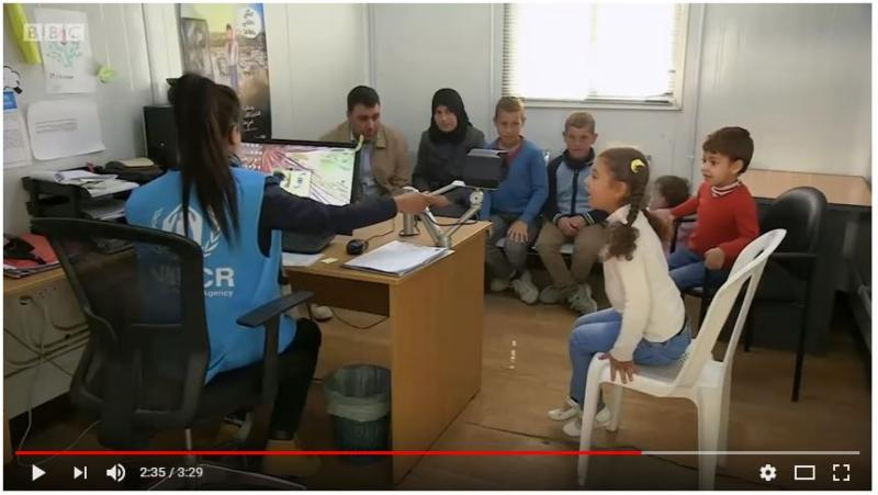 VIDEO_ BBC Click shows iris detection system in use at UNHCR refugee camps