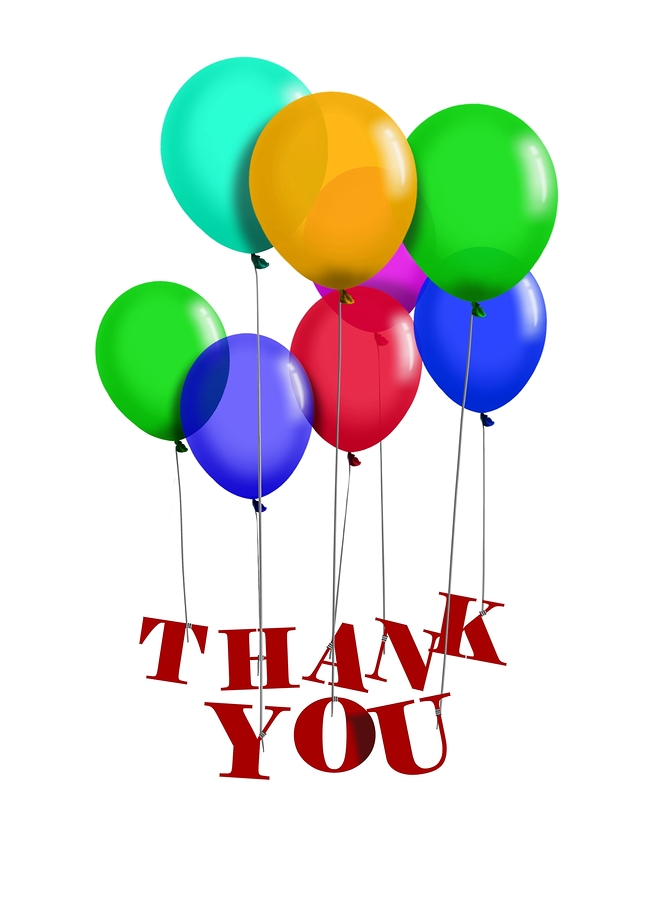 Image of balloon with Thank You words