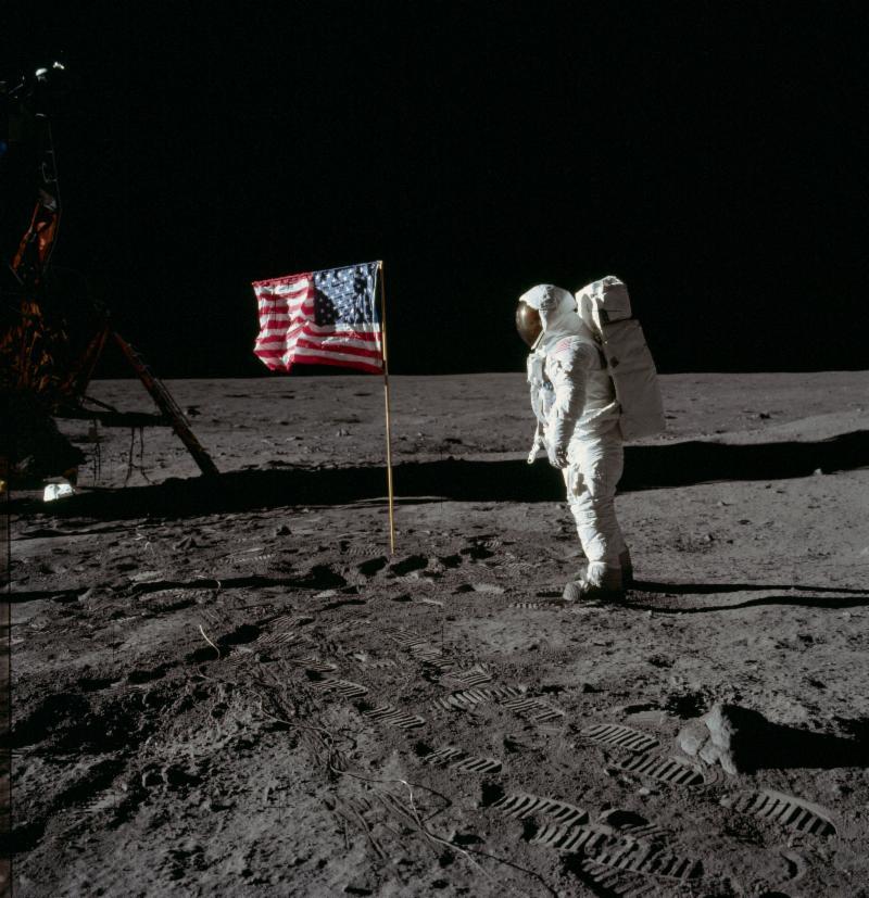 Photo courtesy of NASA. Astronaut Edwin Aldrin Apollo 11