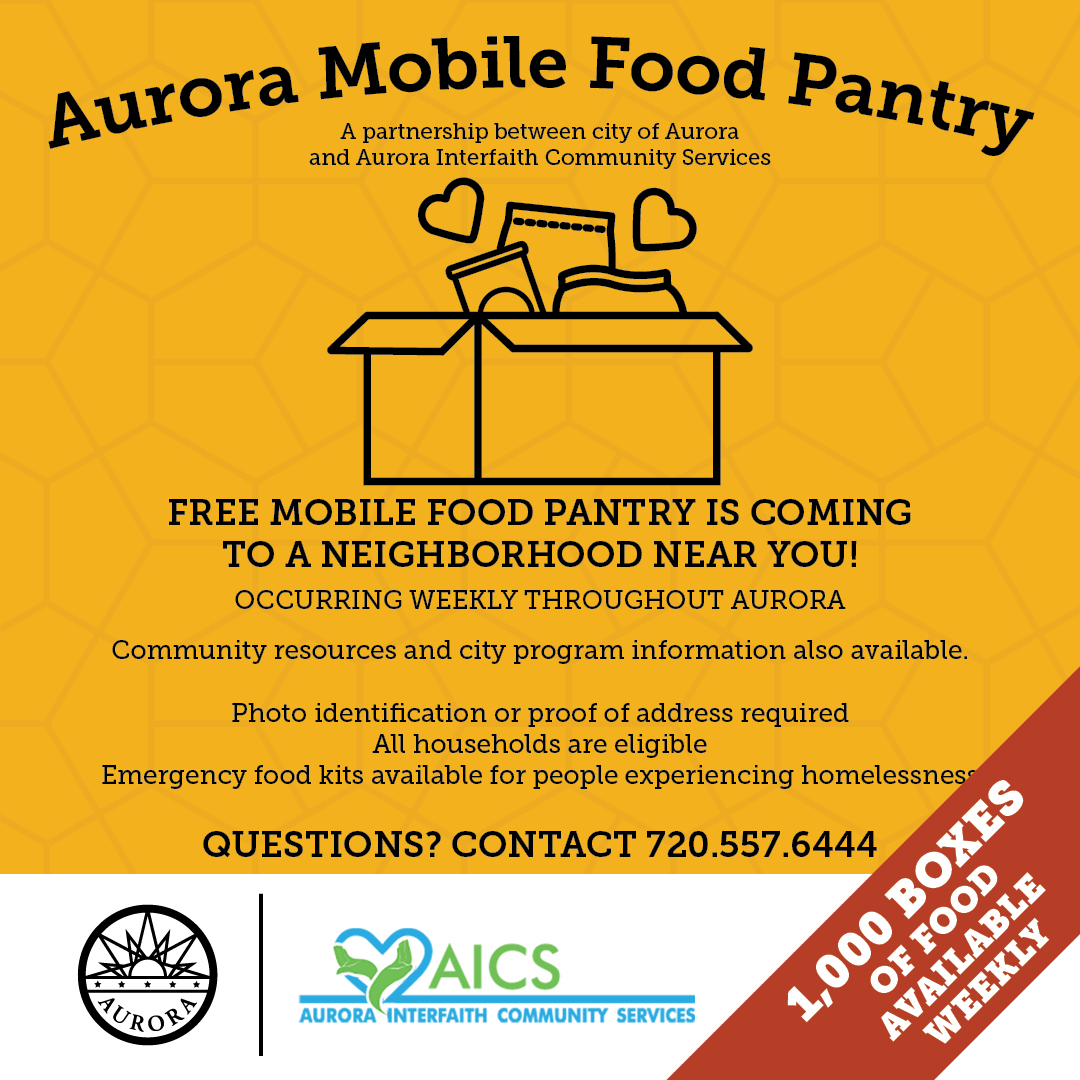 Aurora Mobile Food Pantry flyer