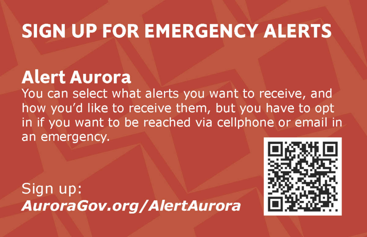 Back of card showing how to sign up for emergency alerts