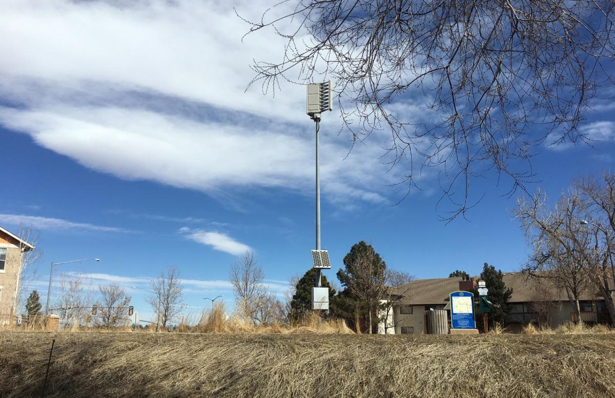 photo of outdoor siren on sable boulevard