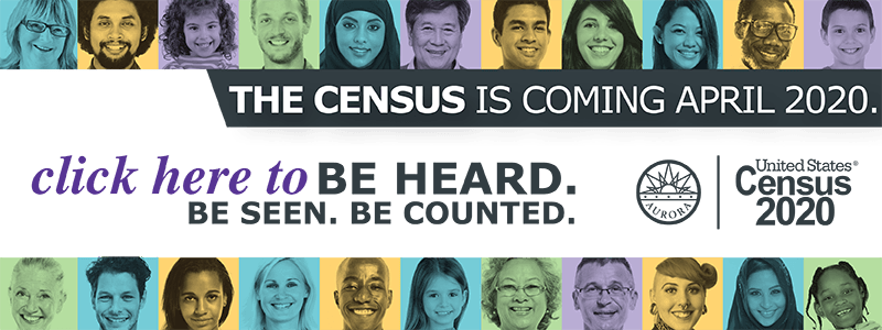 Images of various people with the message that the Census is coming in April 2020
