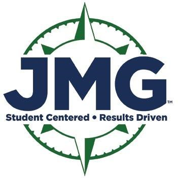 Jobs for Maine Grads (JMG) logo. Blue and green.
