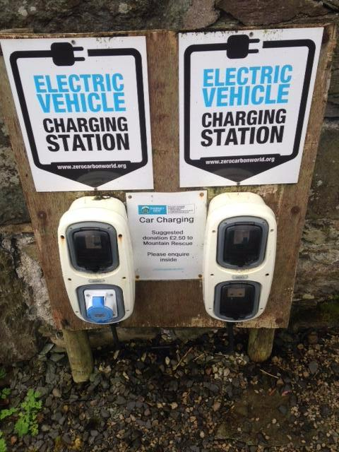 Electric car vehicle charging point