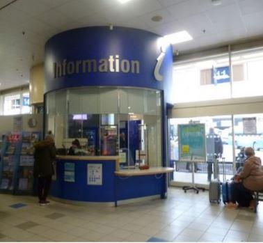 Information desk in Belfast bus centre