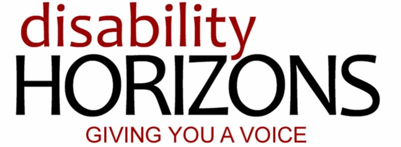 Logo reading disability HORIZONS GIVING YOU A VOICE