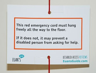 Red cord card from Euan's Guide