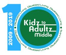 Kidz to Adultz Middle 10th anniversary event logo