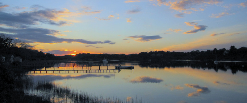 sunset over mill pond 2