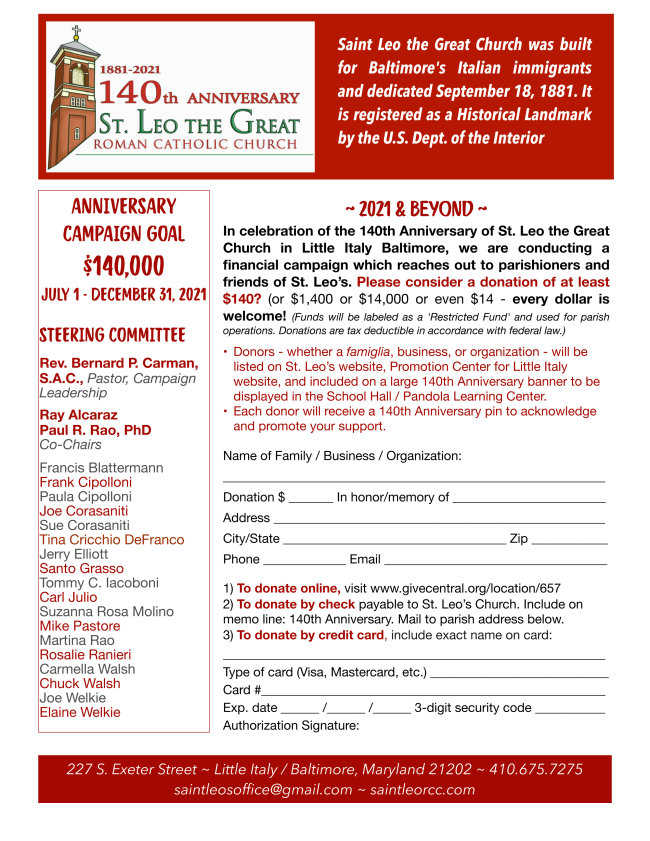 140th pledge sheet