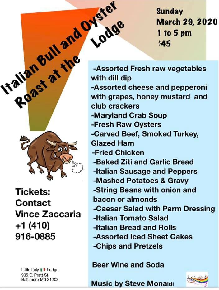 bull roast flier