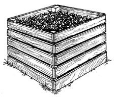 Compost bin with compost drawing - University of Missouri Extension website