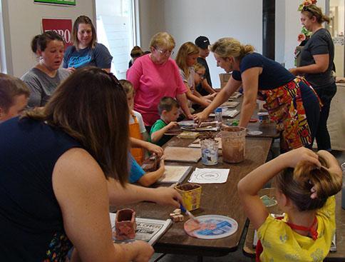 Kids Pottery Class at Hillermann Nursery and Florist on 7-9-18