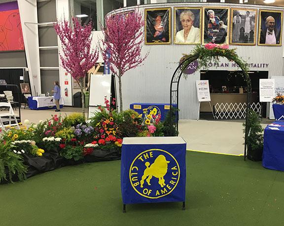 Displays by Hillermann Nursery and Florist at the Poodle Club of America Show at the Purina Event Center - April 2019