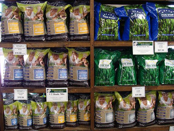 Grass seed blends available at Hillermann Nursery and Florist