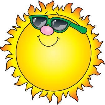 Sun with glasses clip art