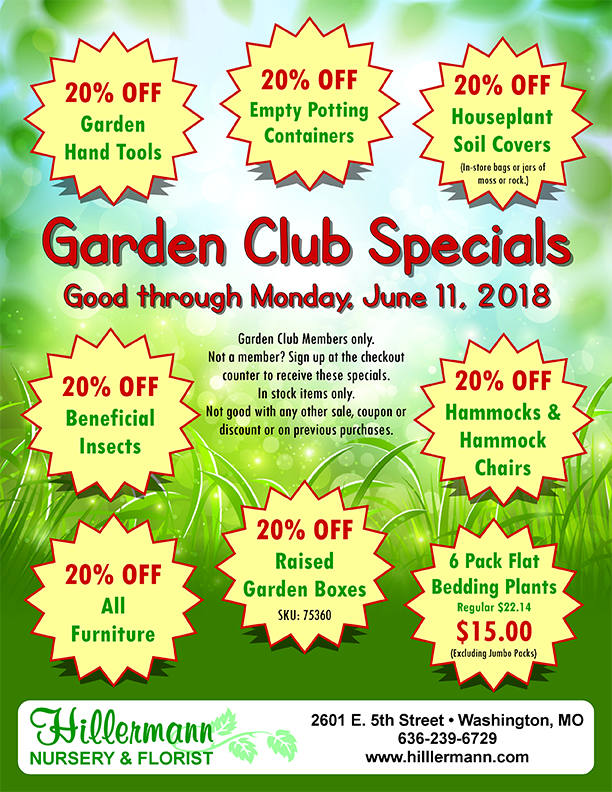 Garden Club Specials picture and grapics