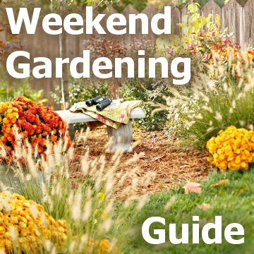 Weekend Gardening Guide - picture title block with fall plantings