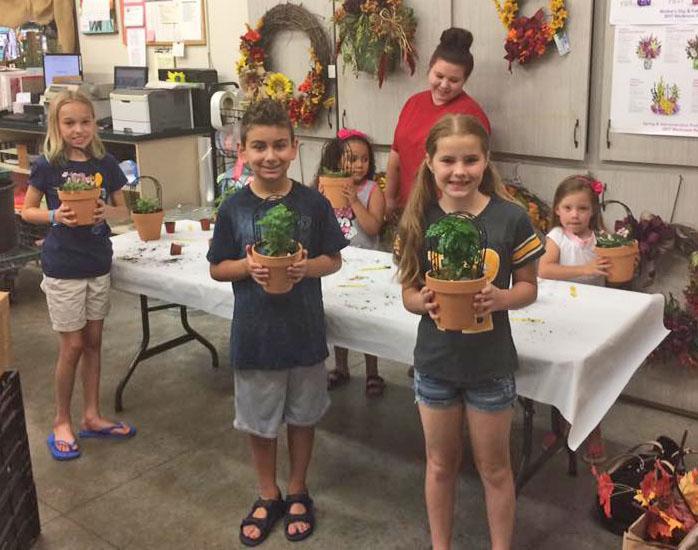 Kids Summer Camp at Hillermann's - Make a Mini Garden on 7-12-17