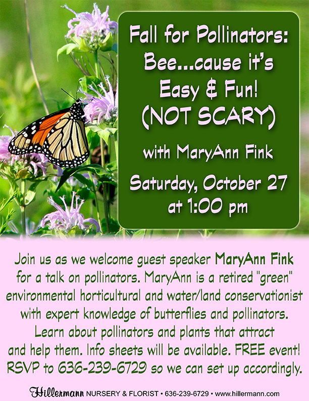 Fall for Pollinators with MaryAnn Fink event flyer