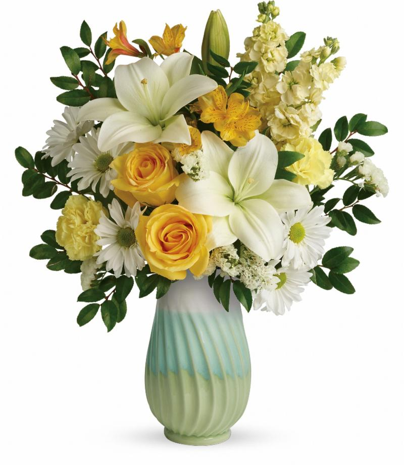 Teleflora's Art of Spring Bouquet available to order from the Flower Shop at Hillermann Nursery and Florist