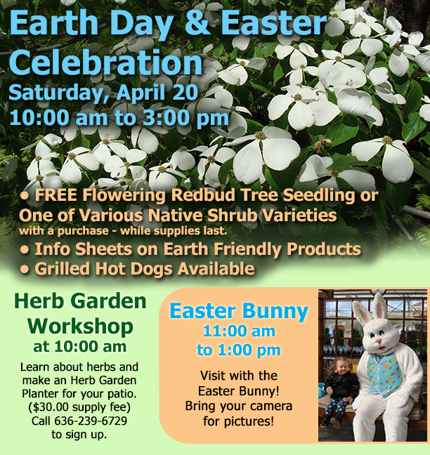 Earth Day and Easter Celebration at Hillermanns on 4-20-19