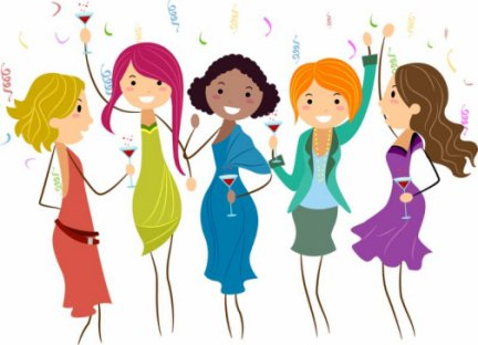 Ladies together clip art