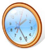 Clip art of a wall clock
