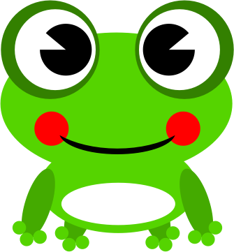 Cute frog clip art