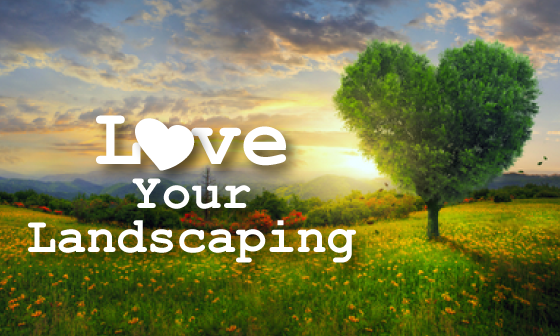 Pretty landscape picture with text - Love Your Landscaping