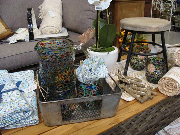 Decor items and furniture available at Hillermann Nursery and Florist
