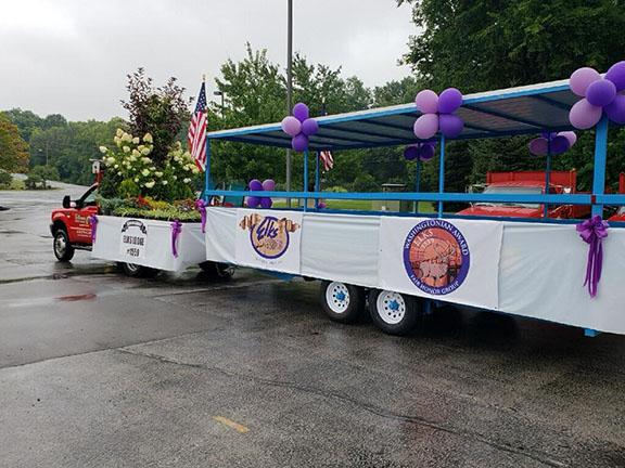 The 2018 parade float by Hillermann Nursery and Florist to carry Washington Elks Lodge officers and board members