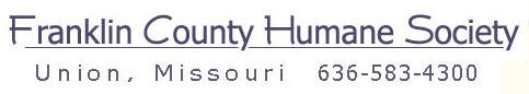 Franklin County Humane Society - Union Missouri - logo and phone number
